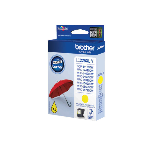 Brother LC225XL High Capacity Yellow Ink Cartridge - LC225XLY