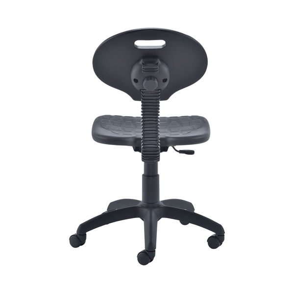 Jemini Black Polyurethane Factory Operators Chair