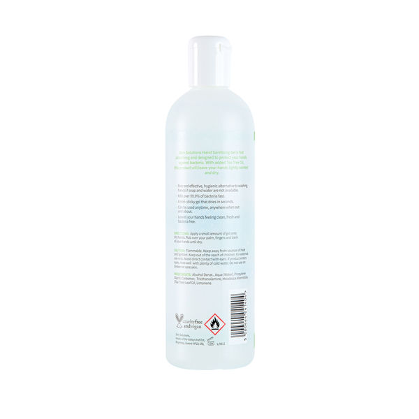 Skin Solutions 400ml Alcohol Hand Sanitising Gel - X/8563