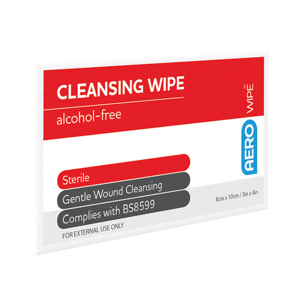 Aerowipe Saline Cleansing Wipes (Pack of 100)