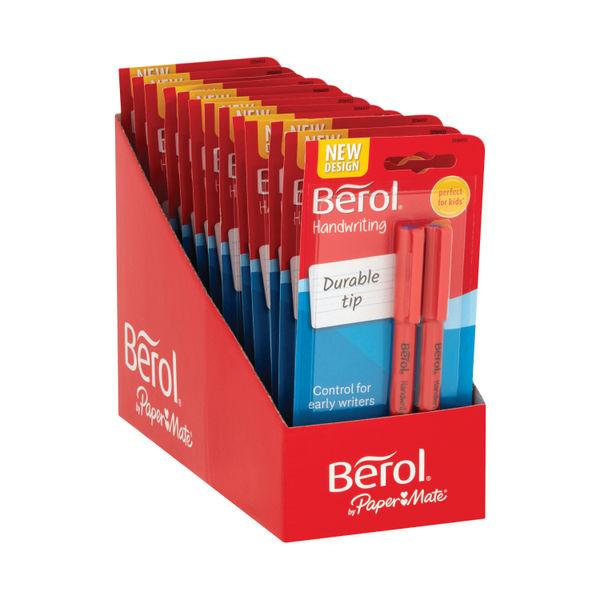 Berol Handwriting Blue Blister Pens, Pack of 24 - S0672920