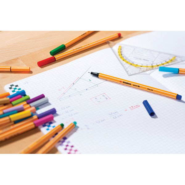 Stabilo Point 88 Assorted ColorParade Fineliner Pens (Pk 20)