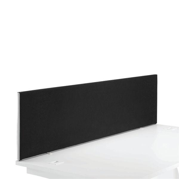 Jemini 1600mm Black Straight Mounted Desk Screen