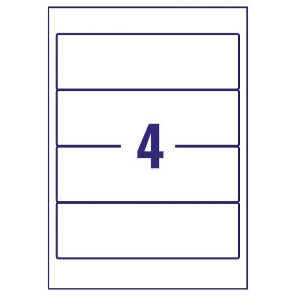 Avery Inkjet Lever Arch Filing Labels 4 Per Sheet (Pk 100) J8171-25