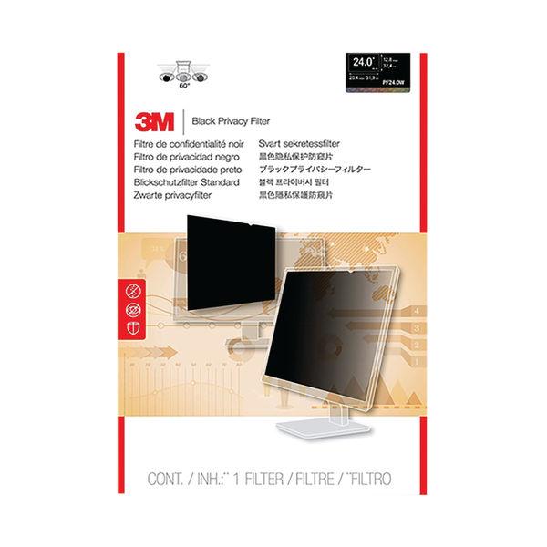 3M Black 24 Inch 16:10 Widescreen Privacy Filter - PF24.0W