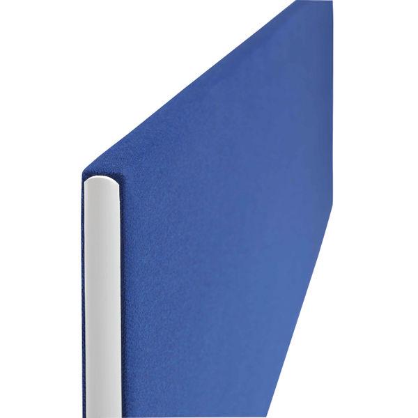 Jemini 1600mm Blue Straight Mounted Desk Screen