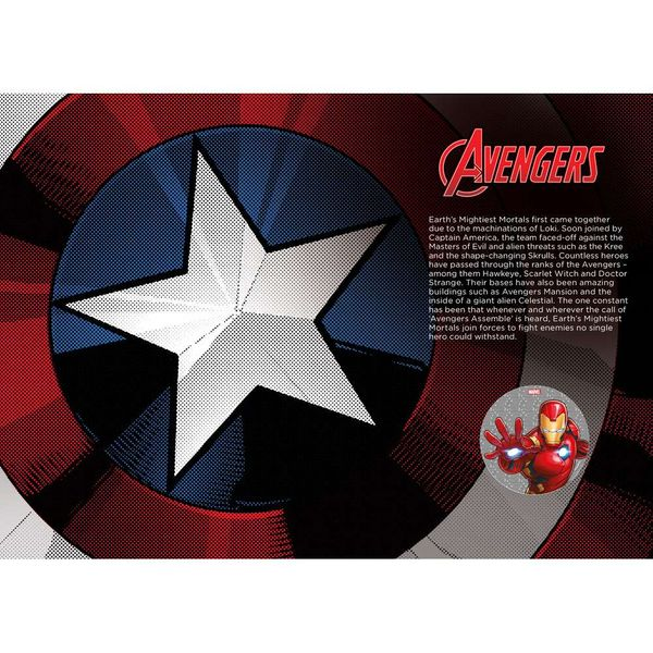 The Marvel Avengers Medal Cover - AM067