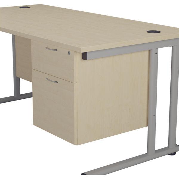 Jemini 655 Maple 2 Drawer Fixed Pedestal