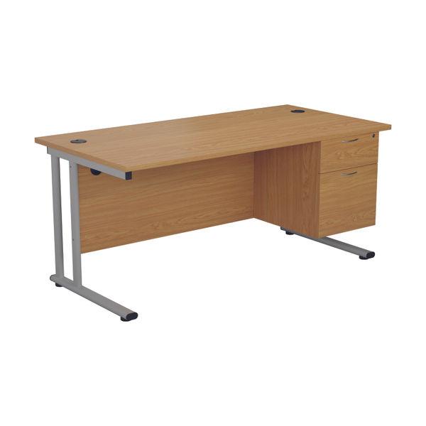 Jemini 655 Nova Oak 2 Drawer Fixed Pedestal
