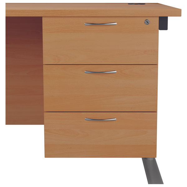 Jemini 655 Beech 3 Drawer Fixed Pedestal
