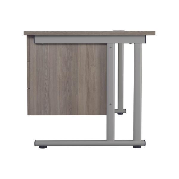 Jemini 655 Grey Oak 3 Drawer Fixed Pedestal