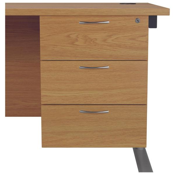 Jemini 655 Nova Oak 3 Drawer Fixed Pedestal