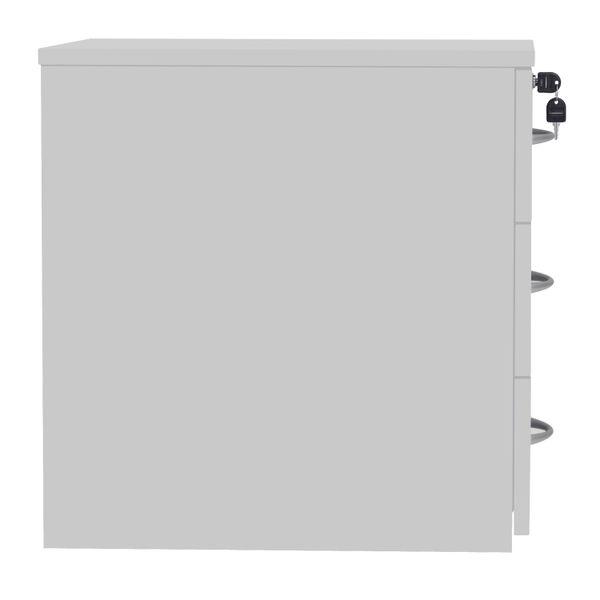 Serrion Eco 18 White 3 Drawer Mobile Pedestal
