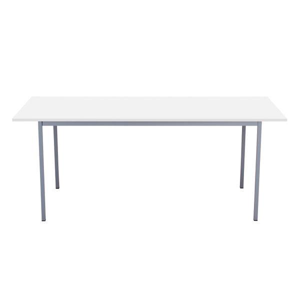 Serrion 1800mm White 4 Leg Rectangular Desk