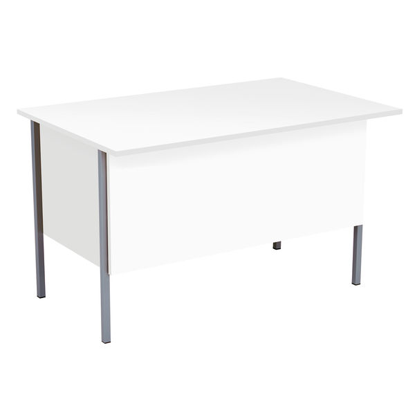 Serrion 1200mm White 2 Drawer 4 Leg Rectangular Desk