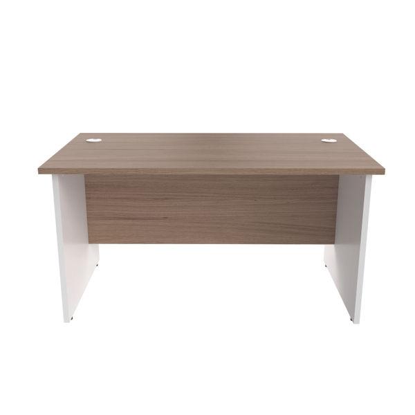 Jemini 1400mm Grey Oak/White Rectangular Panel End Desk