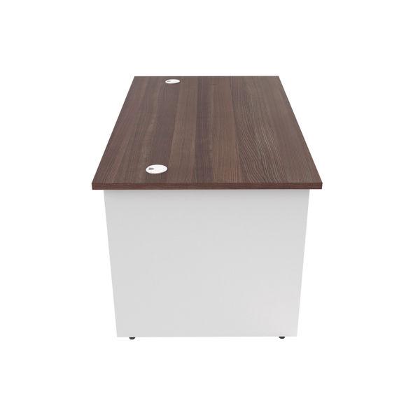 Jemini 1400mm Dark Walnut/White Rectangular Panel End Desk