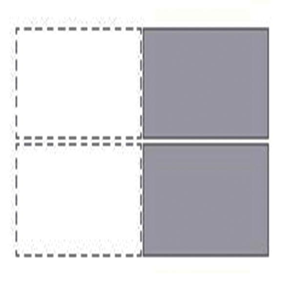 Jemini 1400mm Grey Oak/White Two Person Extension Desk