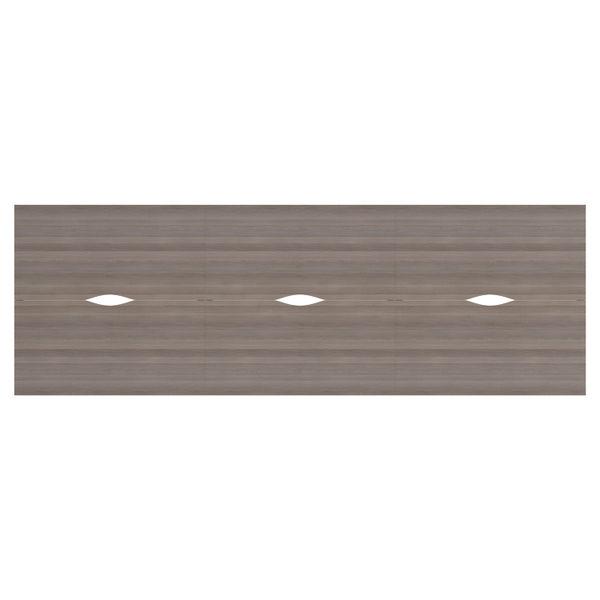 Jemini 1400mm Grey Oak/White Six Person Bench Desk