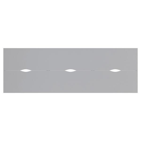 Jemini 1400mm White/White Six Person Bench Desk