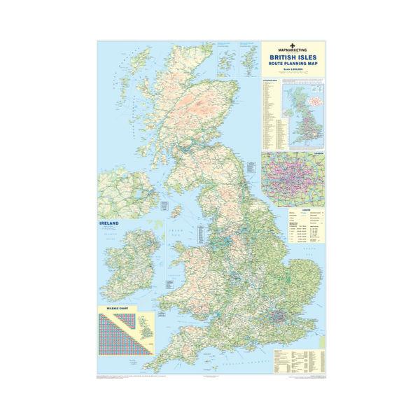 Map Marketing British Isles Motoring Map | BIM