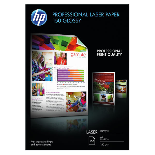 HP Professional A4 Glossy Laser Paper 150gsm (Pack of 150 Sheets) – CG965A