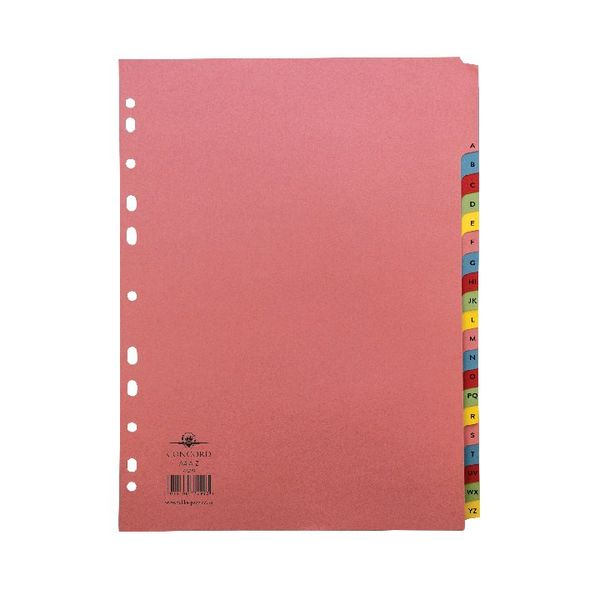 Concord Pastel A4 20-Part A-Z Reinforced Subject Divider - 77299/72