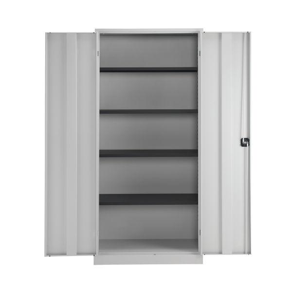 Talos 1950mm Grey Double Door Stationery Cupboard