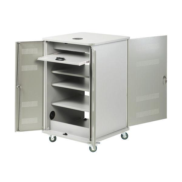 Nobo Grey Multimedia Projection Trolley Cabinet 1902339