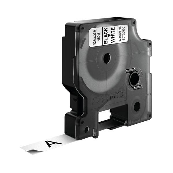 Dymo D1 Labelmaker Tape 12mm x 7m Black on White | S0720530