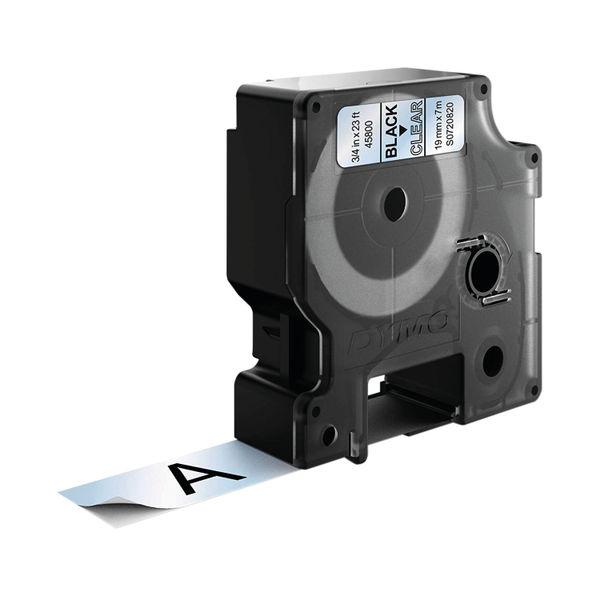 Dymo D1 Labelmaker Tape 19mm x 7m Black on Clear | S0720820