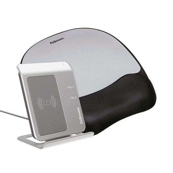 Fellowes Memory Foam Mouse Pad/Wrist Rest Silver Streak | 9175801