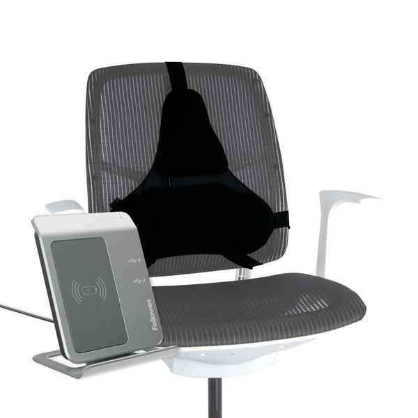 Fellowes Ultimate Back Support Black 8037601   BB51687