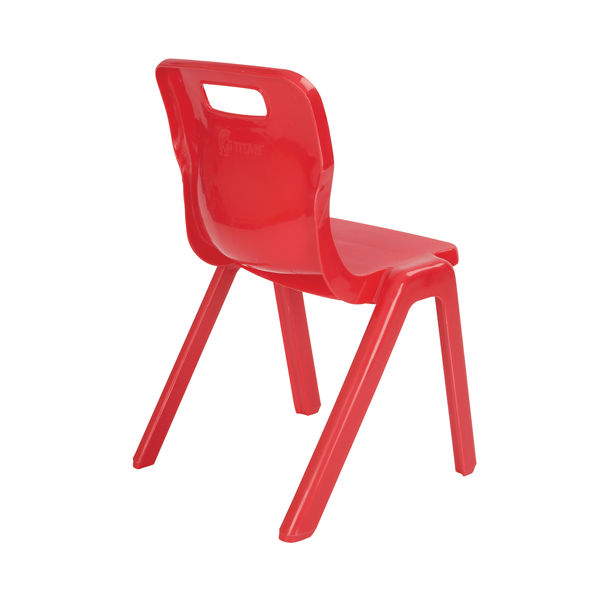 Titan 380mm Red One Piece Chair