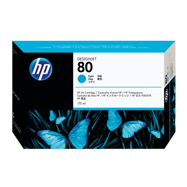 HP 80 Cyan Inkjet Cartridge 175ml | C4872A