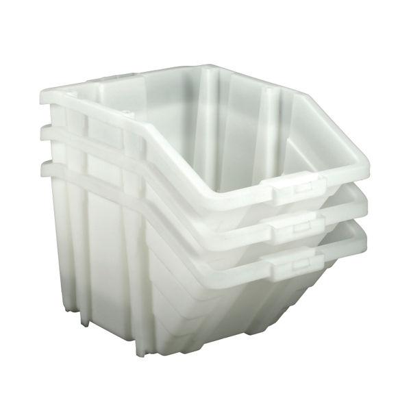 Barton Multifunctional Storage Bins Green Lids (Pack of 4) 052104/4