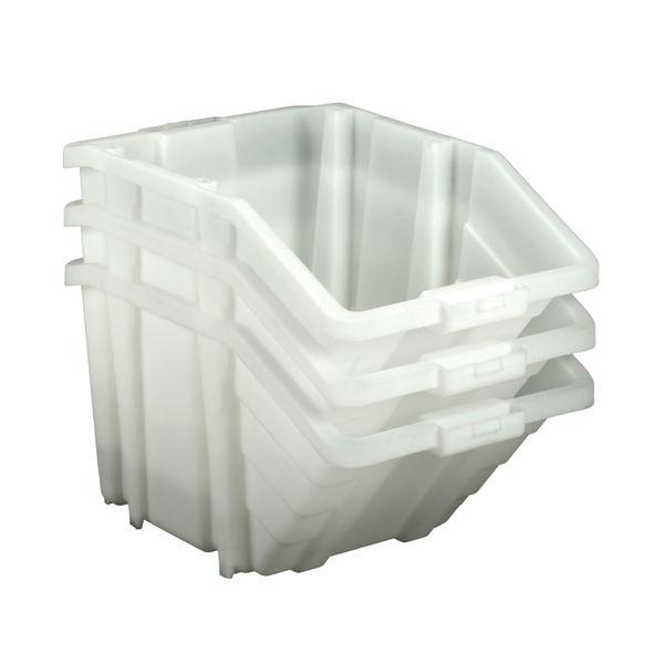 Barton Multifunctional Storage Bins Yellow Lids (Pack of 4) 052106/4