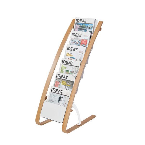 Alba 6 Compartment Floor Standing Literature Display A4 DDEXPO6WBC