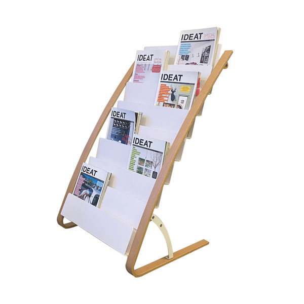 Alba 8 Compartment Floor Standing Literature Display A4 DDEXPO8WBC