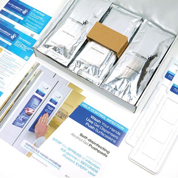 SurfaceSkins Alcohol Gel Door Touch Kit Silver LOCCSPP021000001