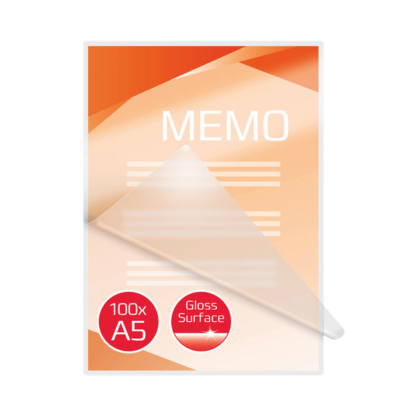 GBC Document Laminating Pouch Gloss A5 250 Micron (Pack of 100) 3200749