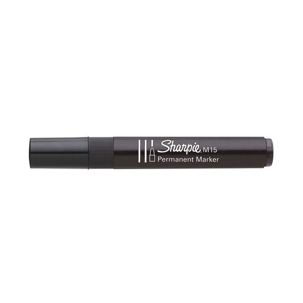 Sharpie M15 Black Permanent Markers, Pack of 12 - S0192582