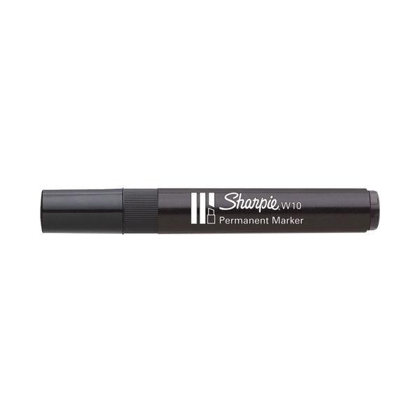 Sharpie W10 Permanent Marker Chisel Tip Black (Pack of 12) S0192652