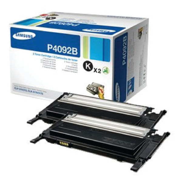 Samsung CLT-P4092B Black Toner Cartridge Dual Pack | SU391A
