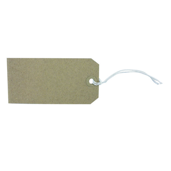 Buff 120 x 60mm Strung Tags, Pack of 1000 | KF01600