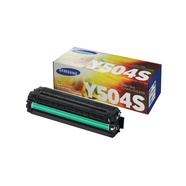Samsung CLT-Y504S Yellow Toner Cartridge   SU502A