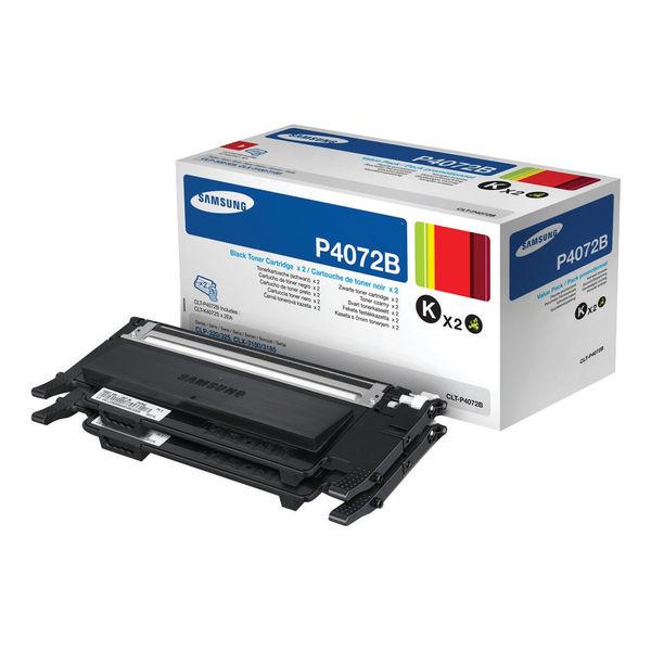 Samsung CLT-P4072B Black Toner Cartridge Dual Pack | SU381A
