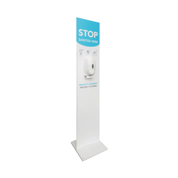 Floor Standing Hand Sanitiser Dispenser Unit White 921410EACH