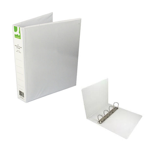Q-Connect White 40mm A4 4 D-Ring Presentation Binder, Pack of 6 - KF01329Q