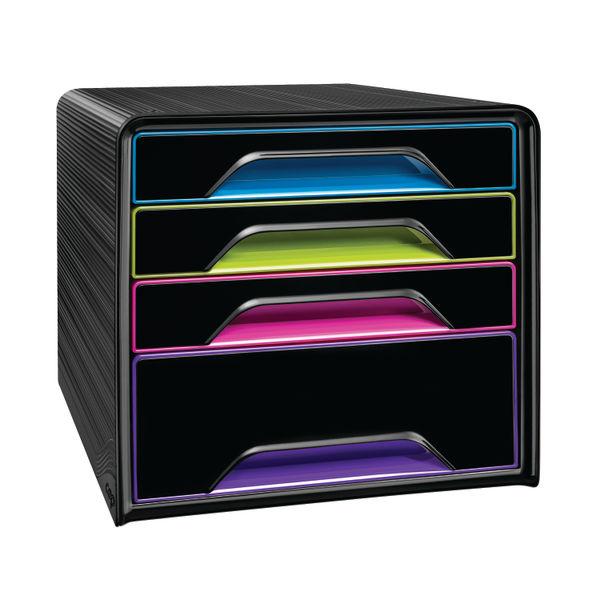 CEP Black/Multicolour Smoove 4 Drawer Set  - 7-113 GM Arctic